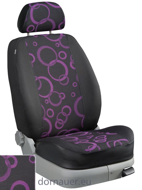 Passform Sitzbezug Dessin Rom Violett