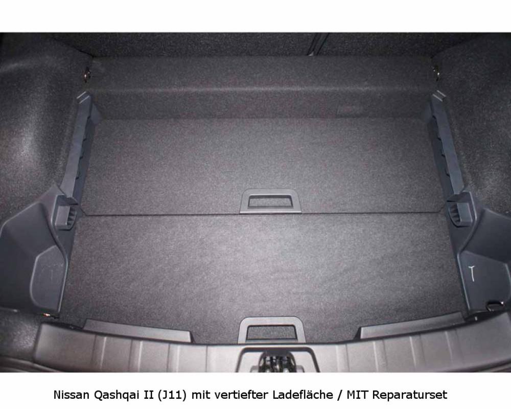 Kofferraum Nissan Qashqai II Mit Vertiefter Ladeflache MIT Reparaturset