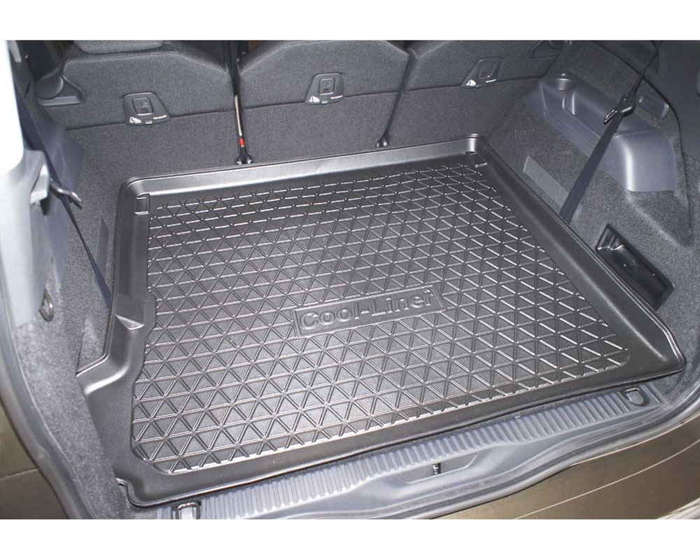 Geriffelte Kofferraumwanne für Citroen C4 Grand Picasso 1 Vor-Facelift Van Kombi